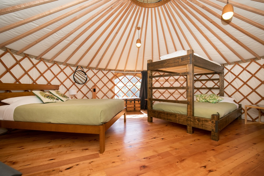 Inside of Group & Family Yurts at Oasis Yurt Lodge, Wanaka New Zealand