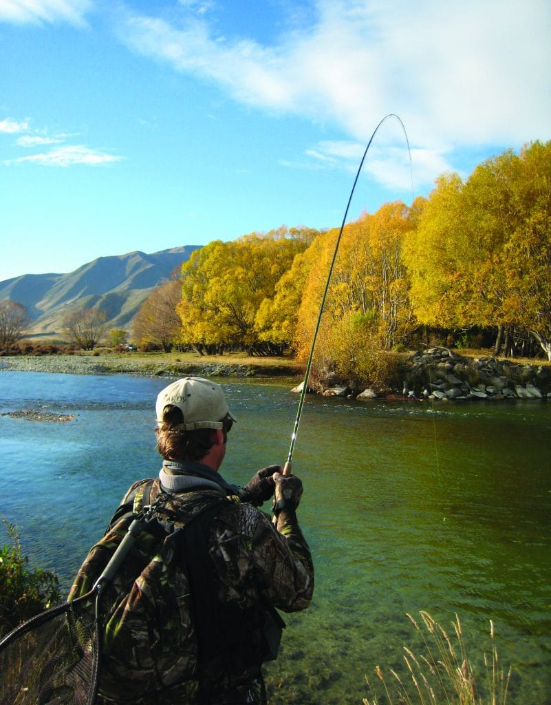 Autumn fishing in Wanaka, New Zealand