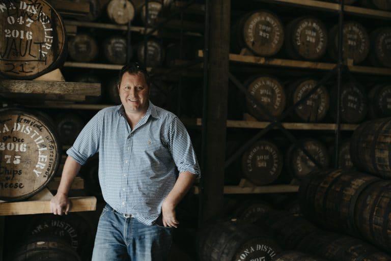 Barrels inside Cardrona Distillery