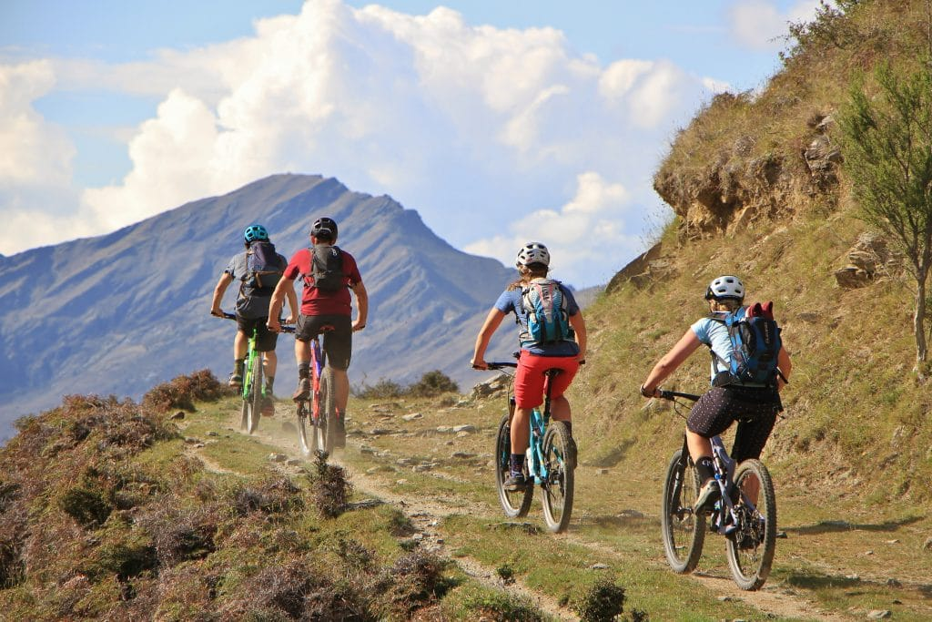 Mountain biking in Wanaka, New Zealand