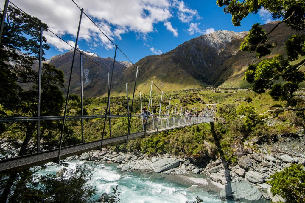 Rob Roy Swing Bridge, Wanaka New Zealand