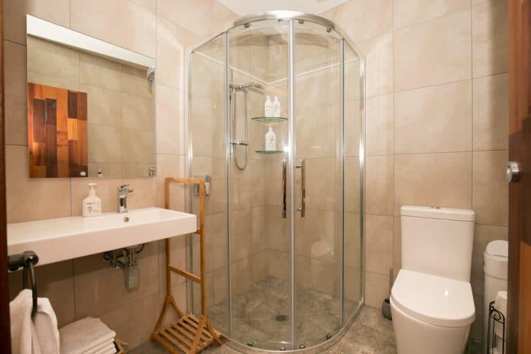 Shared bathroom at Oasis Yurt Lodge Wanaka