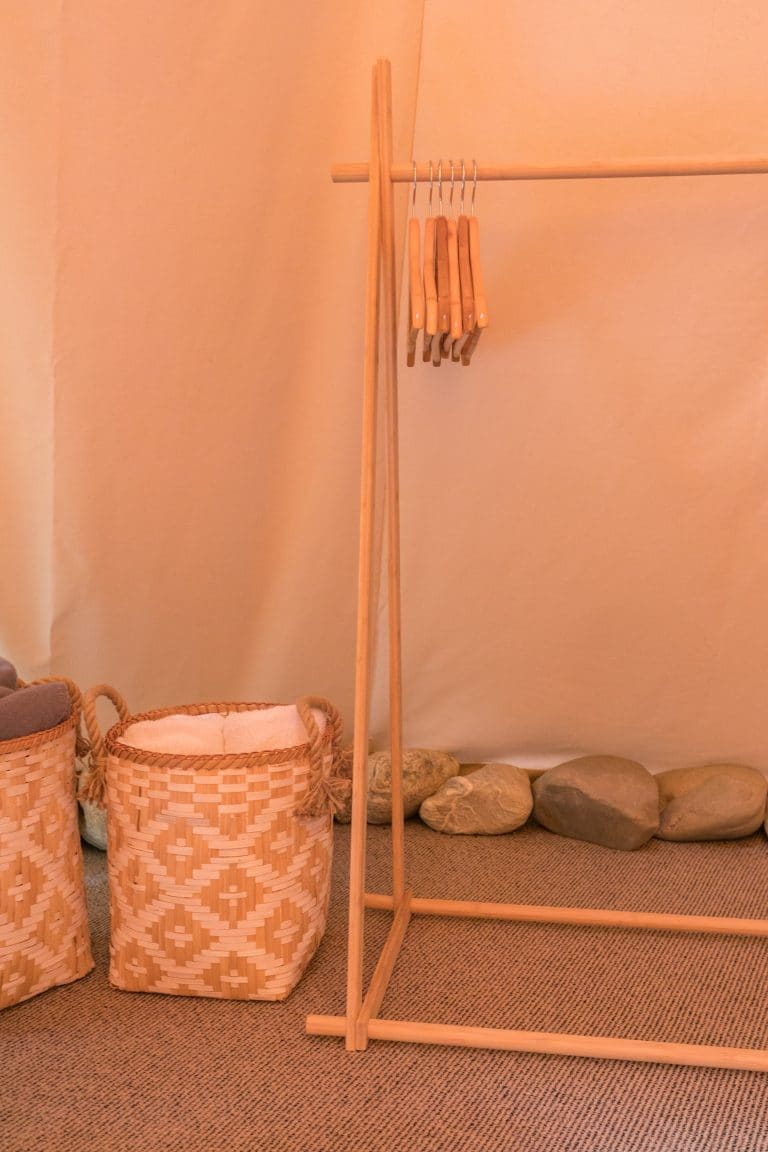 Interior of the queen tipi