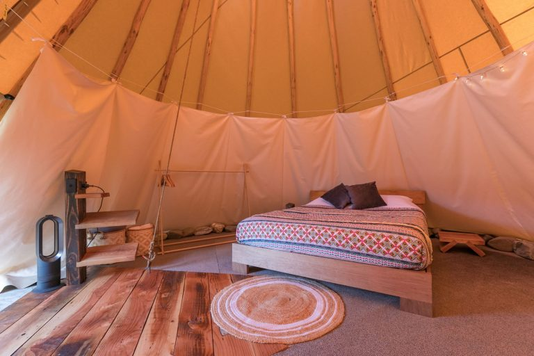 Tipi Interior Accommodation