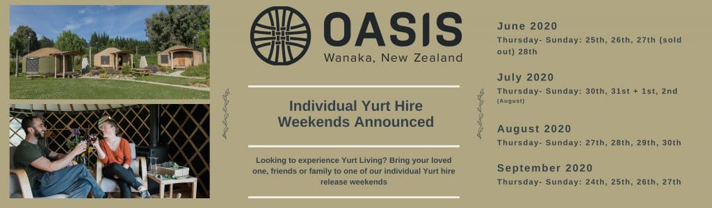 Copy of Copy of Individual Yurt Hire Weekends Announced