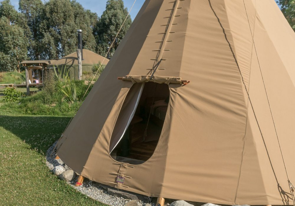 Outside of the queen tipi