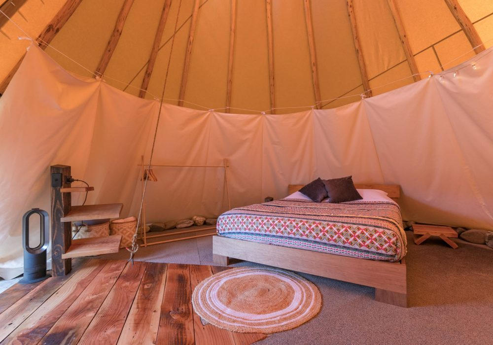 Tipi Interior Accommodation
